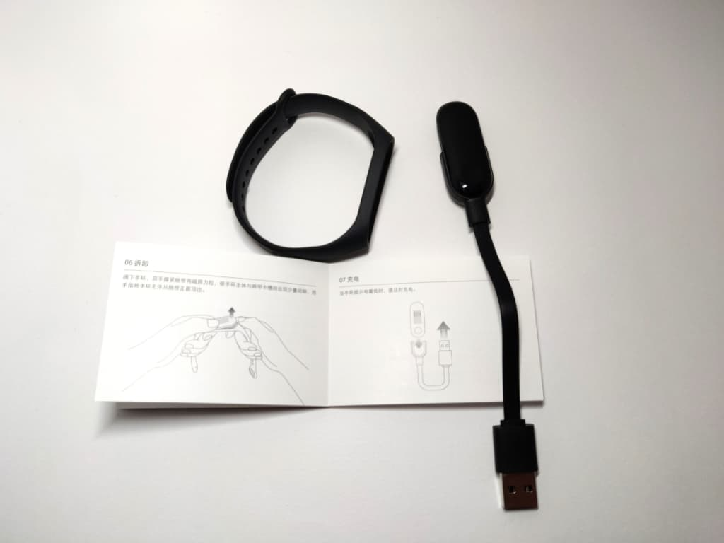 【Mi Band 3】充電ケーブルに装着