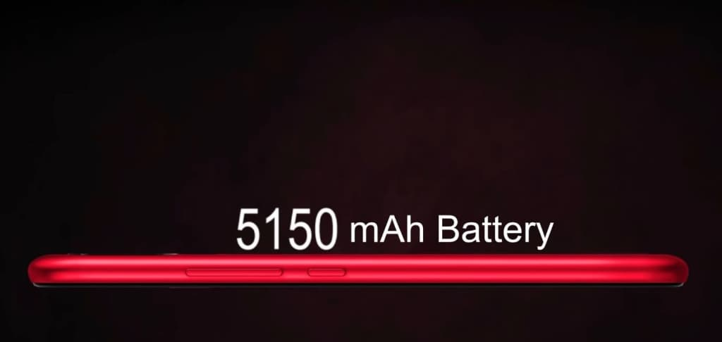 UMIDIGI F1のバッテリー容量は5,150mAhでハンパない!