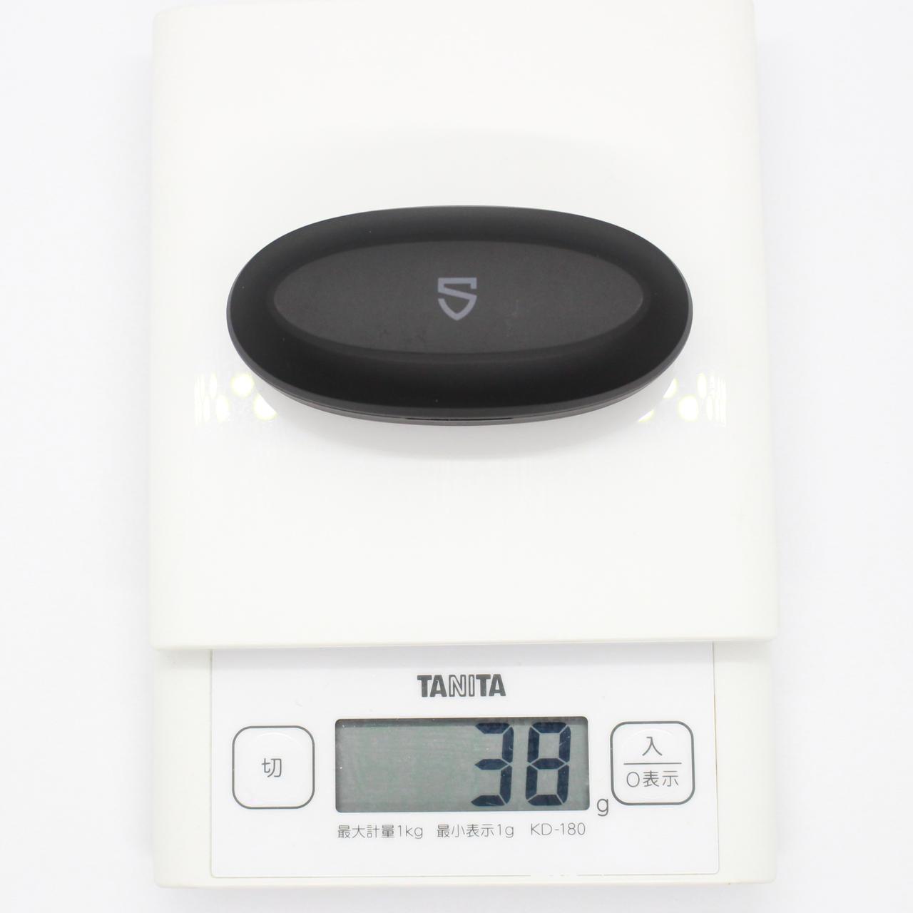 SOUNDPEATS TrueCapsule|ケースの重さも38gと超軽い