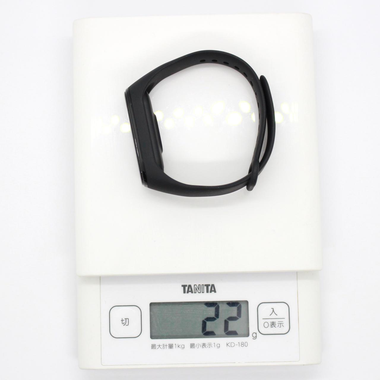 Mi Band 4の重量は22g