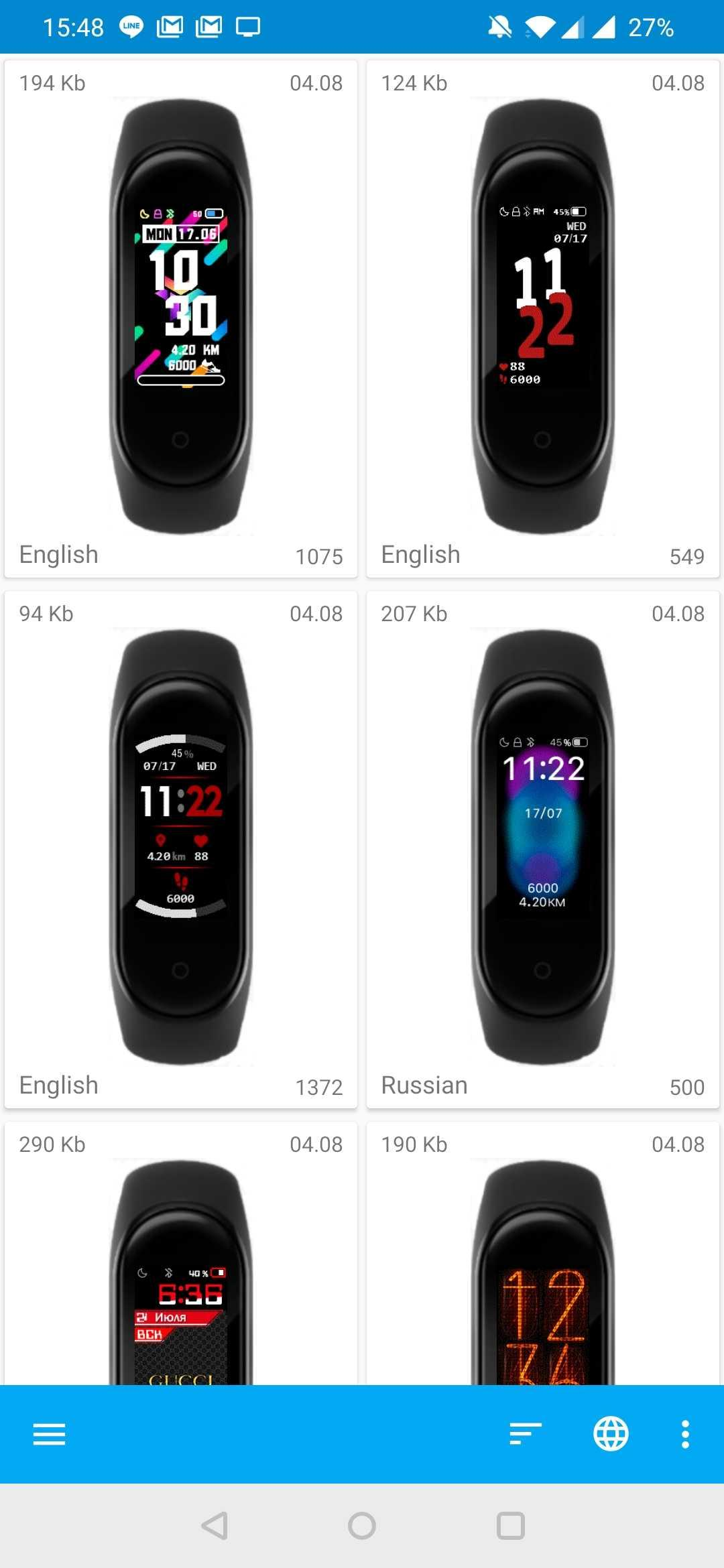 MiBand4 - WatchFace for Xiaomi Mi Band 4 でさらにテーマを設定可能