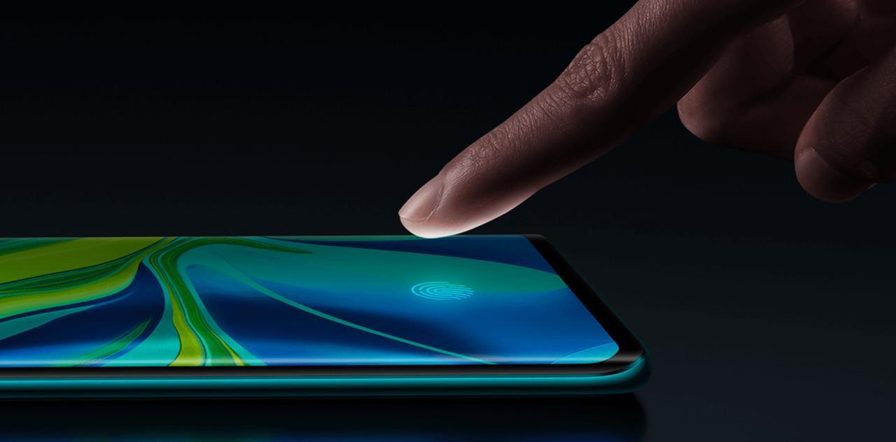 Mi Note 10はディスプレイ指紋認証搭載