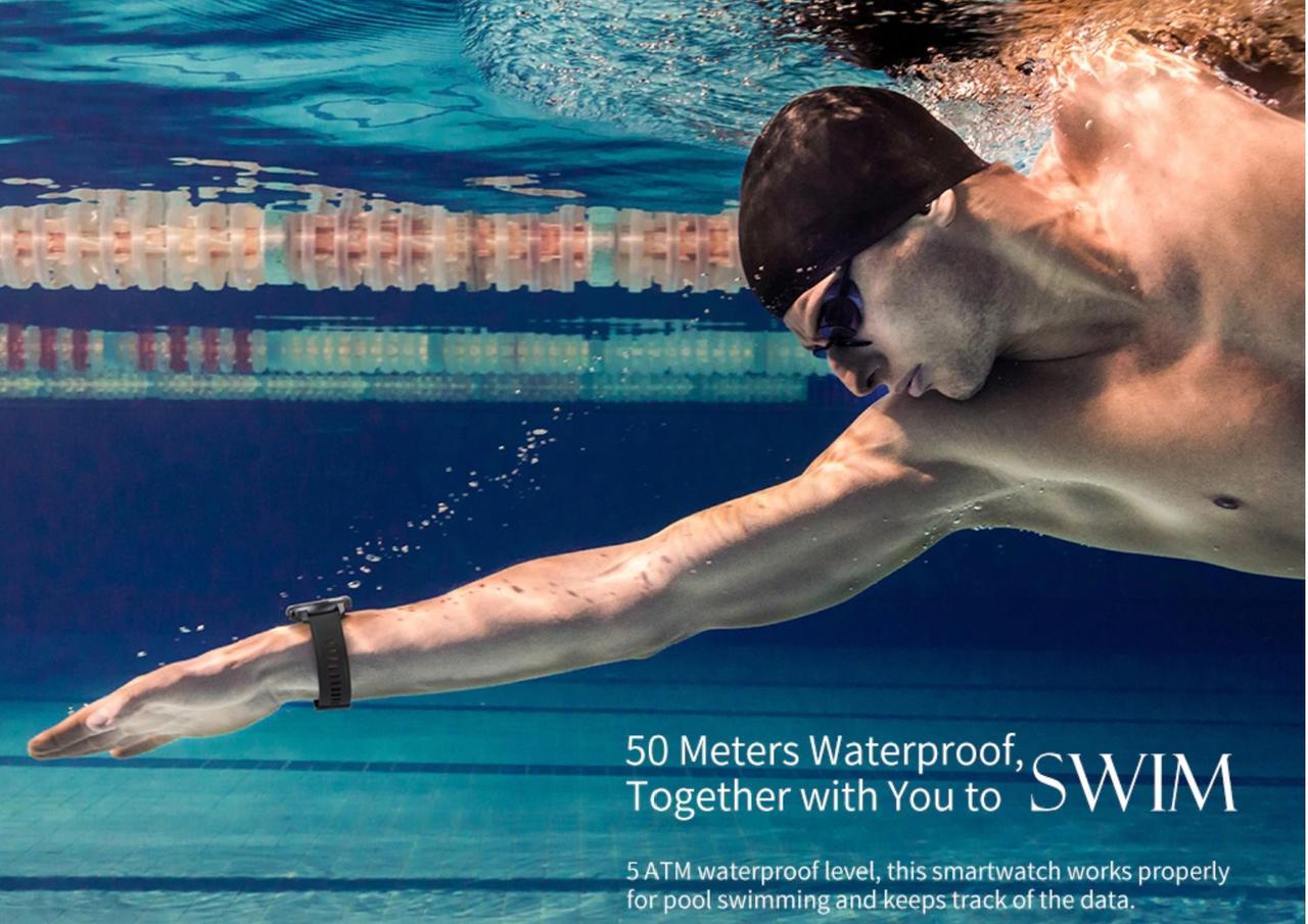 5気圧防水で水仕事も水泳もOK