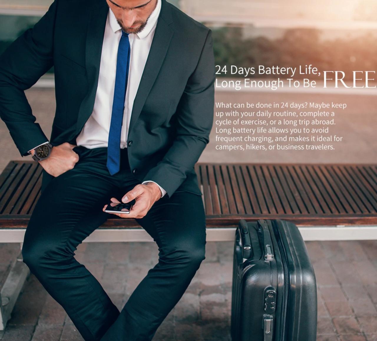 24日間のストレスフリーなバッテリー持ち