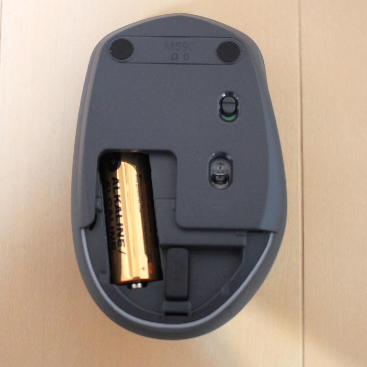 logicool M590は単三乾電池一本で2年のバッテリー持ち