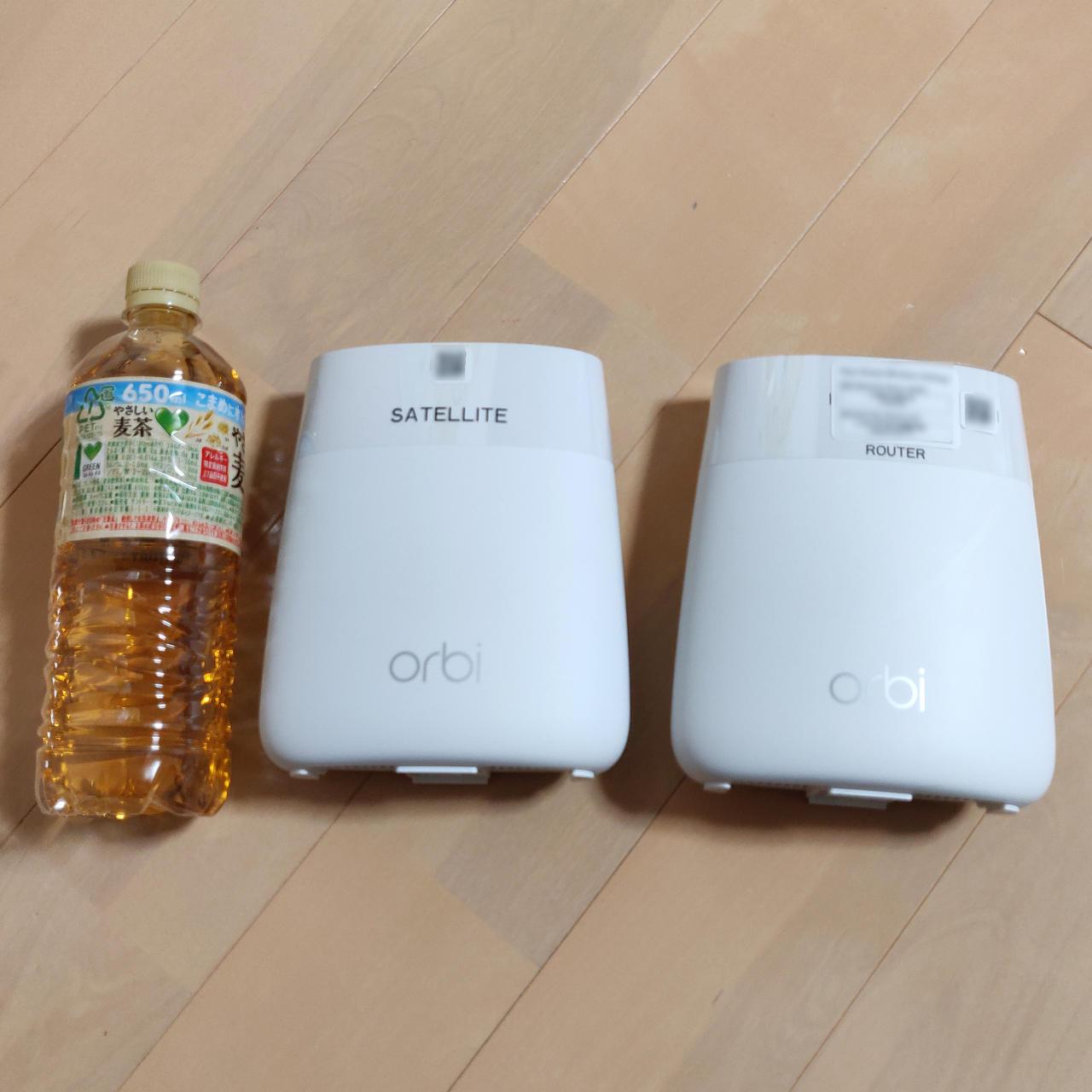 Orbi Microのサイズは500mlペットボトル2本分くらい