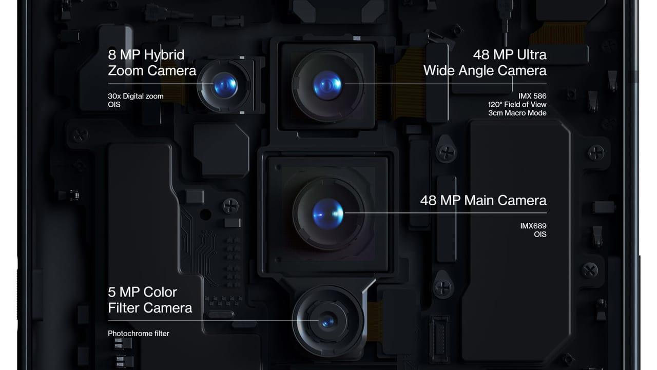 ダブル48MPを含む4眼リアカメラと16MPフロントカメラ