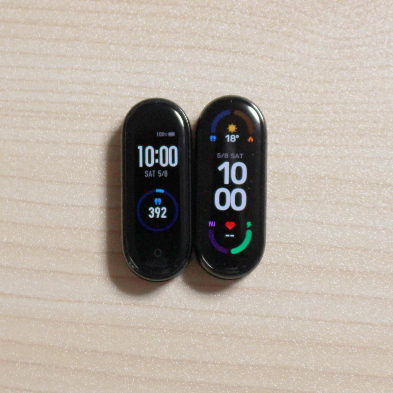 Mi Smart Band 6は全画面化で5よりさらに大画面化